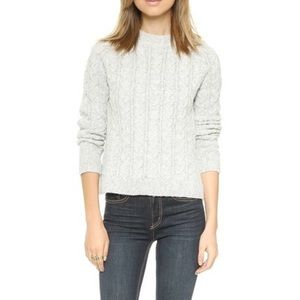 For Love and Lemons Cable knit white sweater!